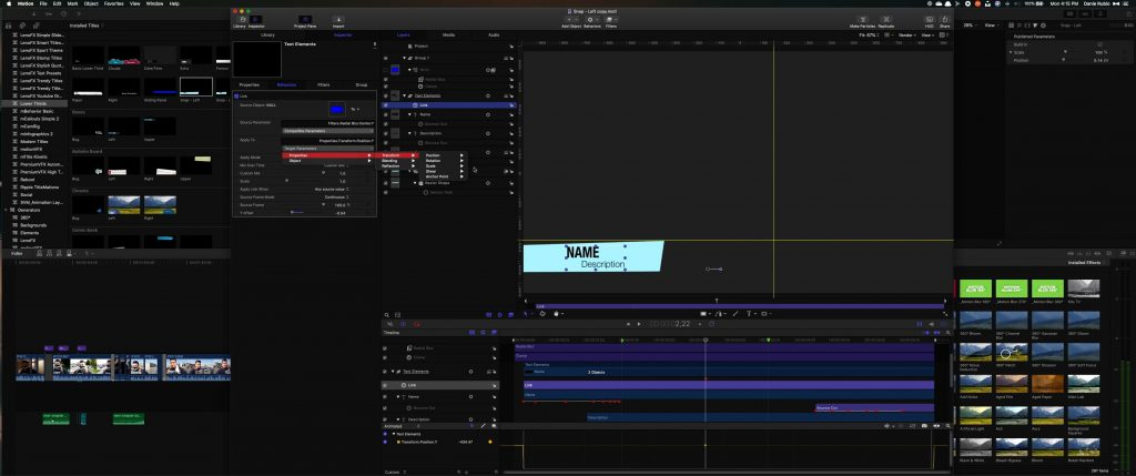 How to Customize a Final Cut Title in Apple Motion